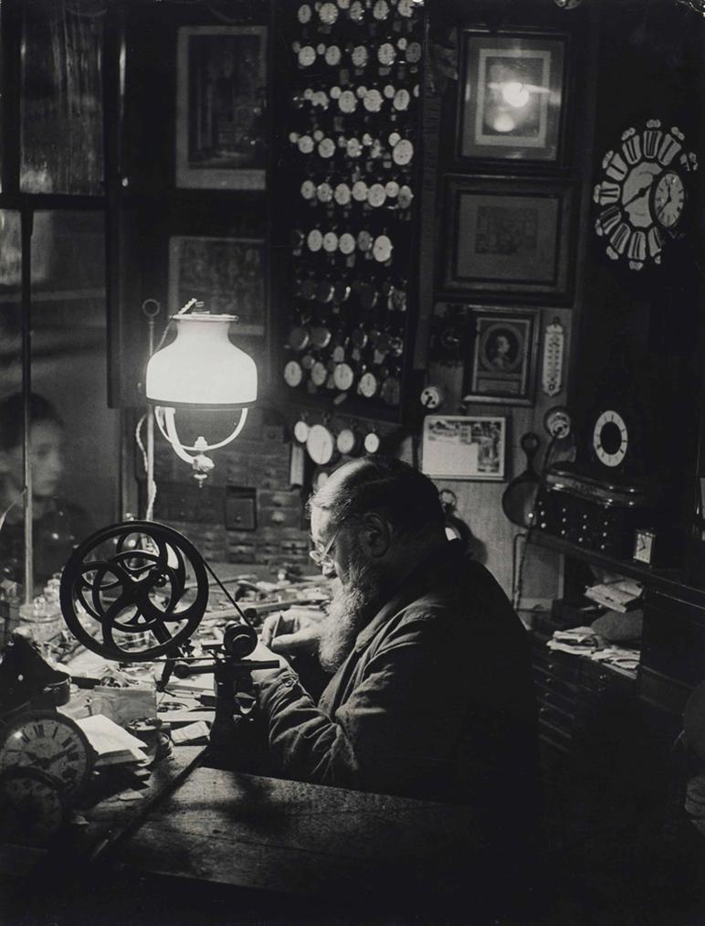 Brassai-Watchmaker, Dauphine Alley, Paris, 1932-1933-1933
