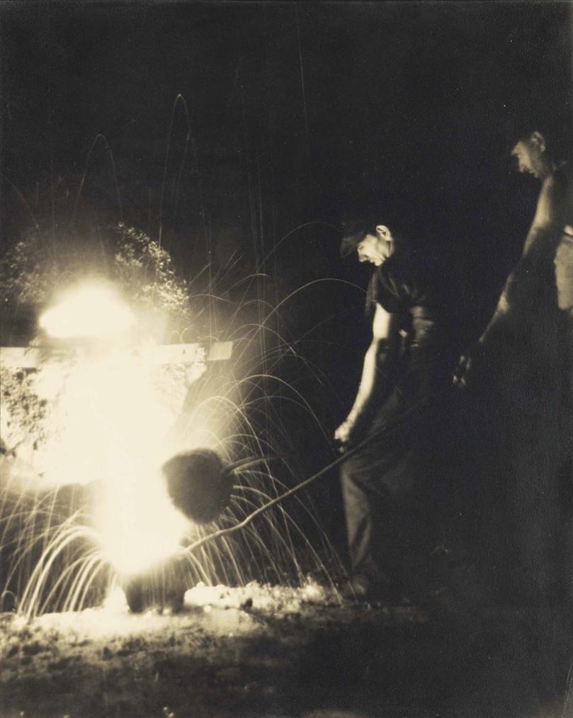 Margaret Bourke-White-Glass Maker, Studebaker Foundry-1931