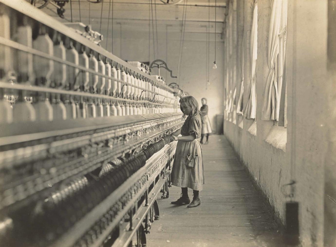 Lewis Wickes Hine-Sadie Pfeifer, A Cotton Mill Spinner, Lancaster, South Carolina-1908
