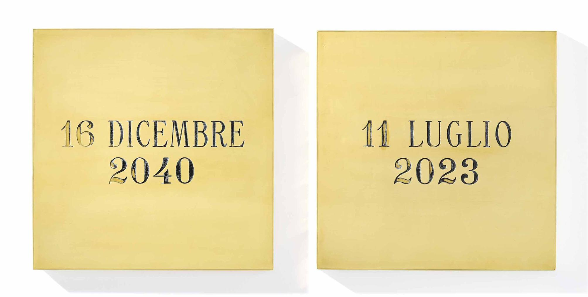Alighiero Boetti-16 Dicembre 2040 11 Luglio 2023-1971