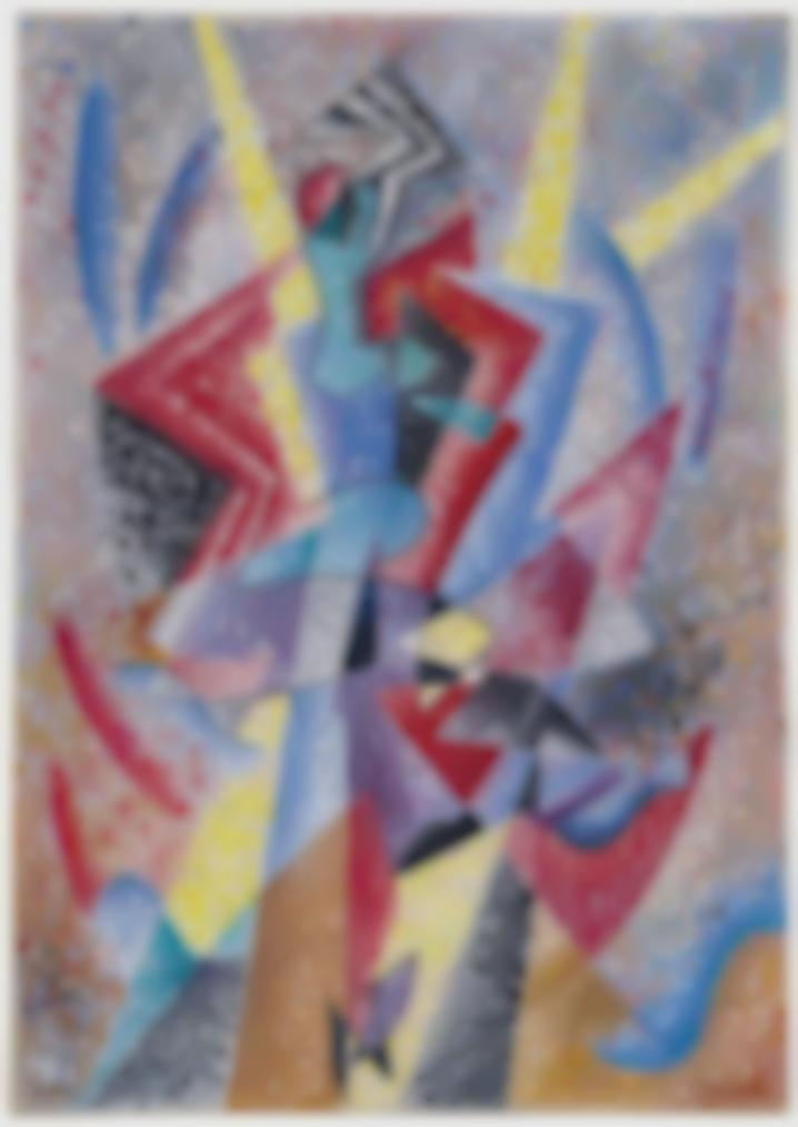 Gino Severini-Arlequin (Danseuse)-1962