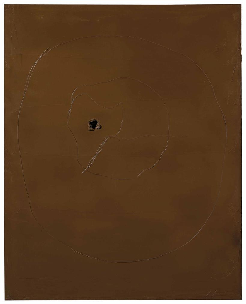 Lucio Fontana-[Concetto Spaziale]-1959