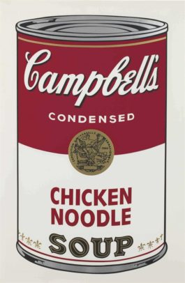 Andy Warhol-Chicken Noodle, From Campbells Soup I-1968