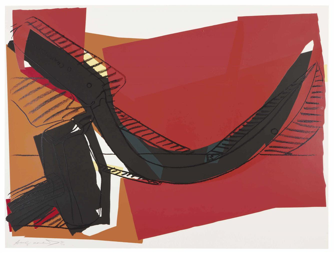 Andy Warhol-Hammer And Sickle: One Plate-1977