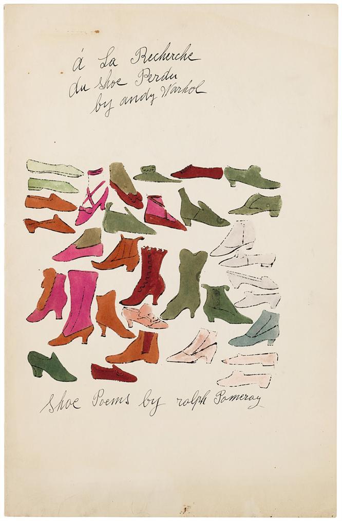 Andy Warhol-A La Recherche Du Shoe Perdu-1955