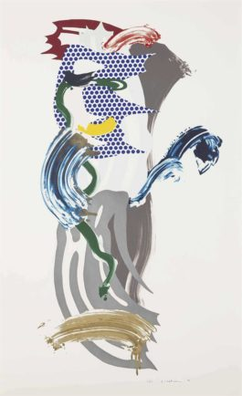 Roy Lichtenstein-Blue Face, From Brushstroke Figures-1989