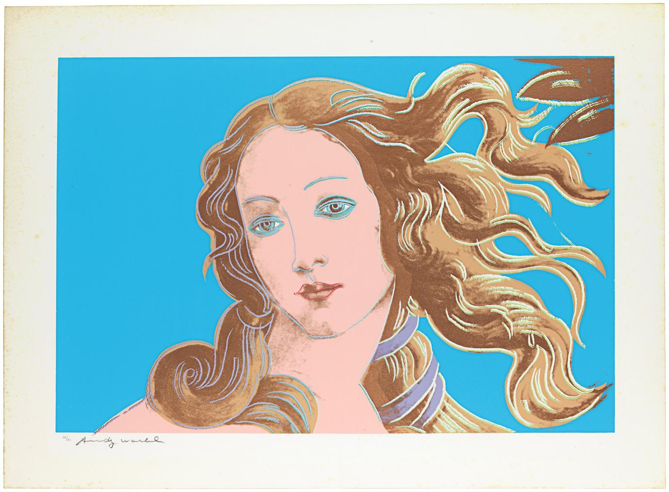 Andy Warhol-Details Of Renaissance Paintings (Sandro Botticelli, Birth Of Venus)-1984