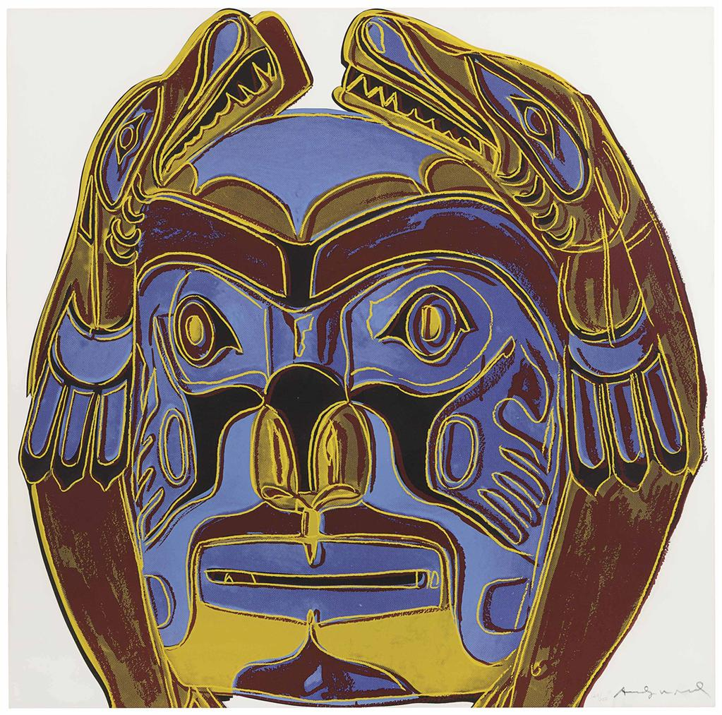 Andy Warhol-Northwest Coast Mask, From Cowboys And Indians-1986