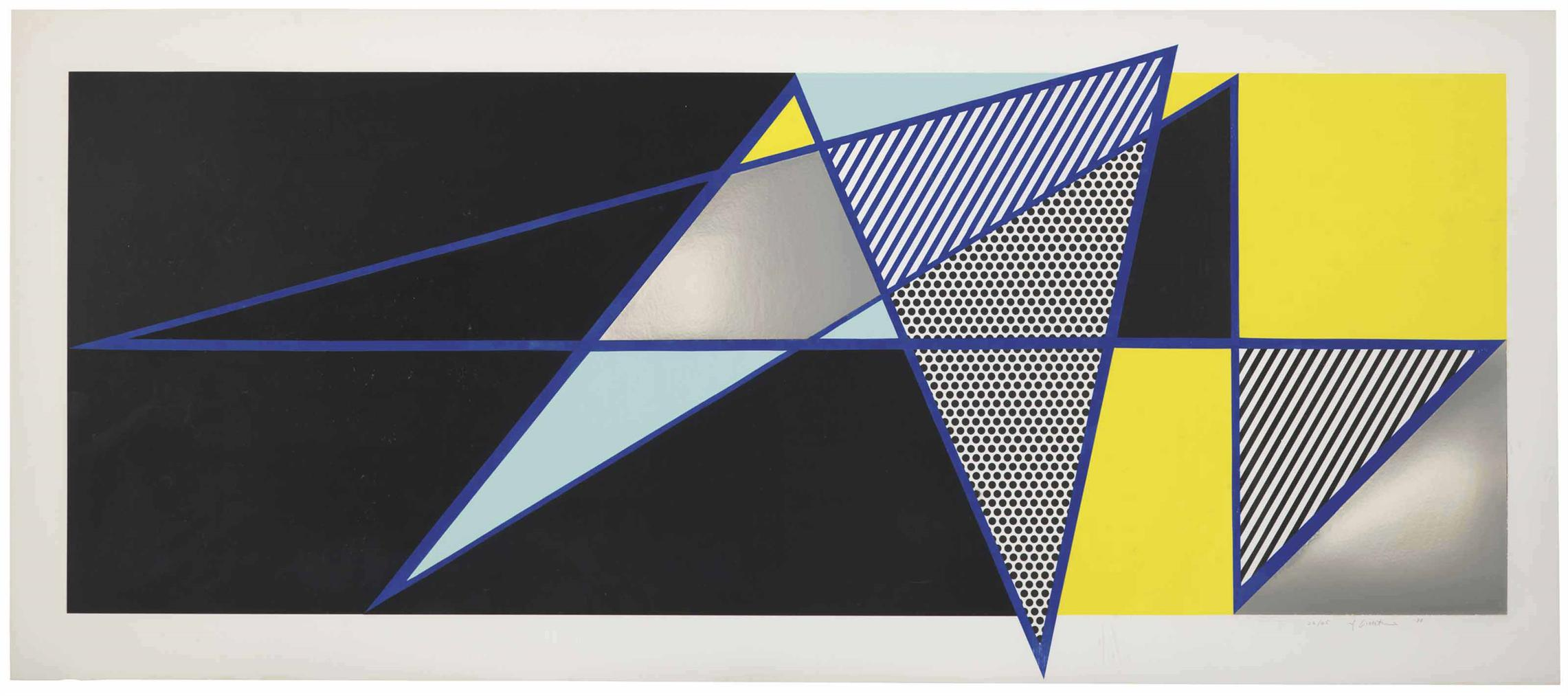 Roy Lichtenstein-Imperfect 44 3/4 X 103, From Imperfect Series-1988