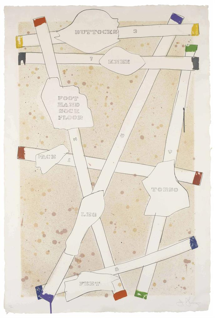Jasper Johns-Sketch From Untitled I, From Casts From Untitled-1974