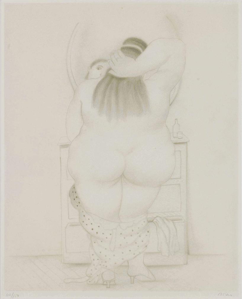 Fernando Botero-Dessins Et Aquarelles: One Plate-1984