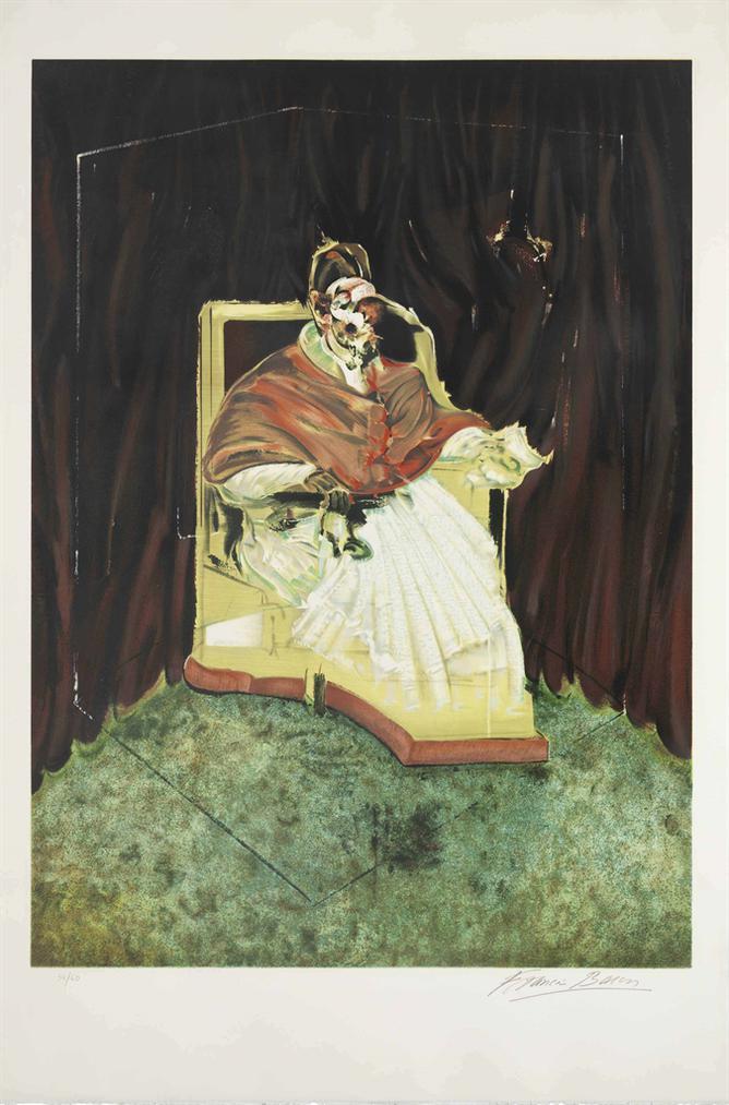 Francis Bacon-Etude Pour Un Portrait De Pape Innocent X-1989