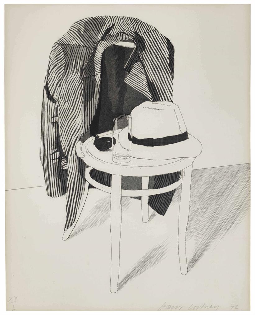 David Hockney-Panama Hat-1972