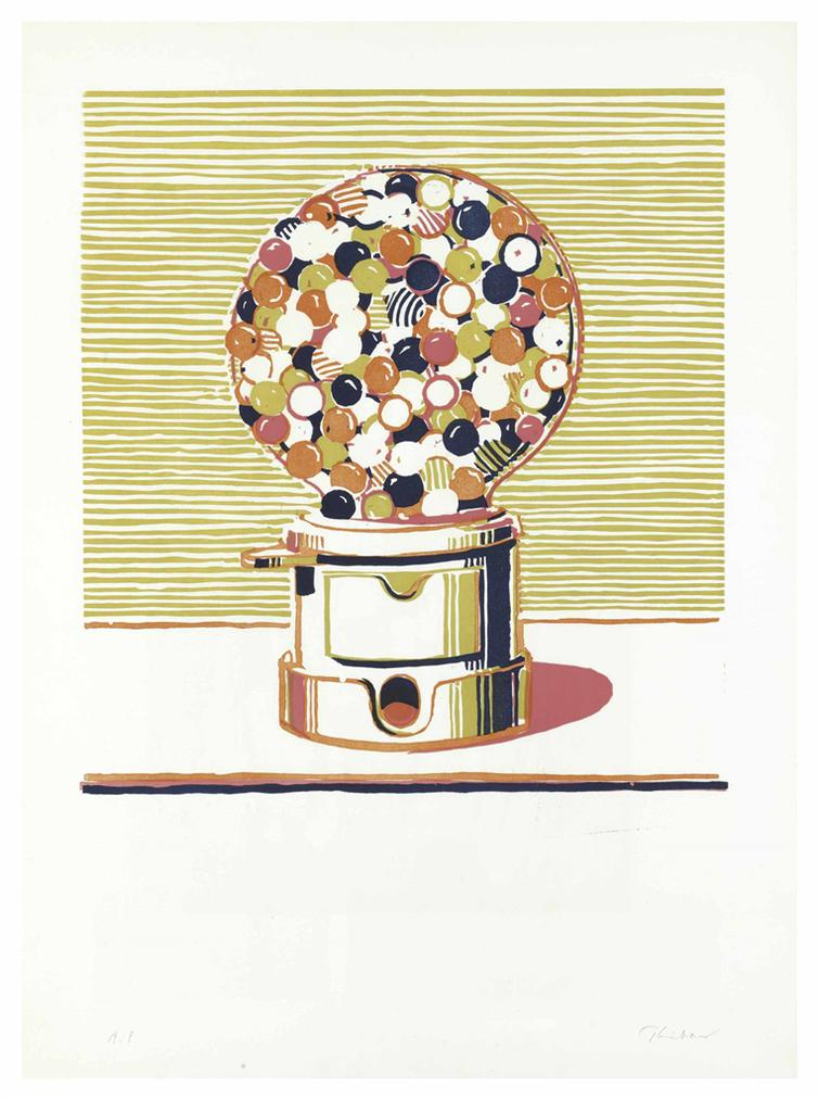 Wayne Thiebaud-Gumball Machine-1970