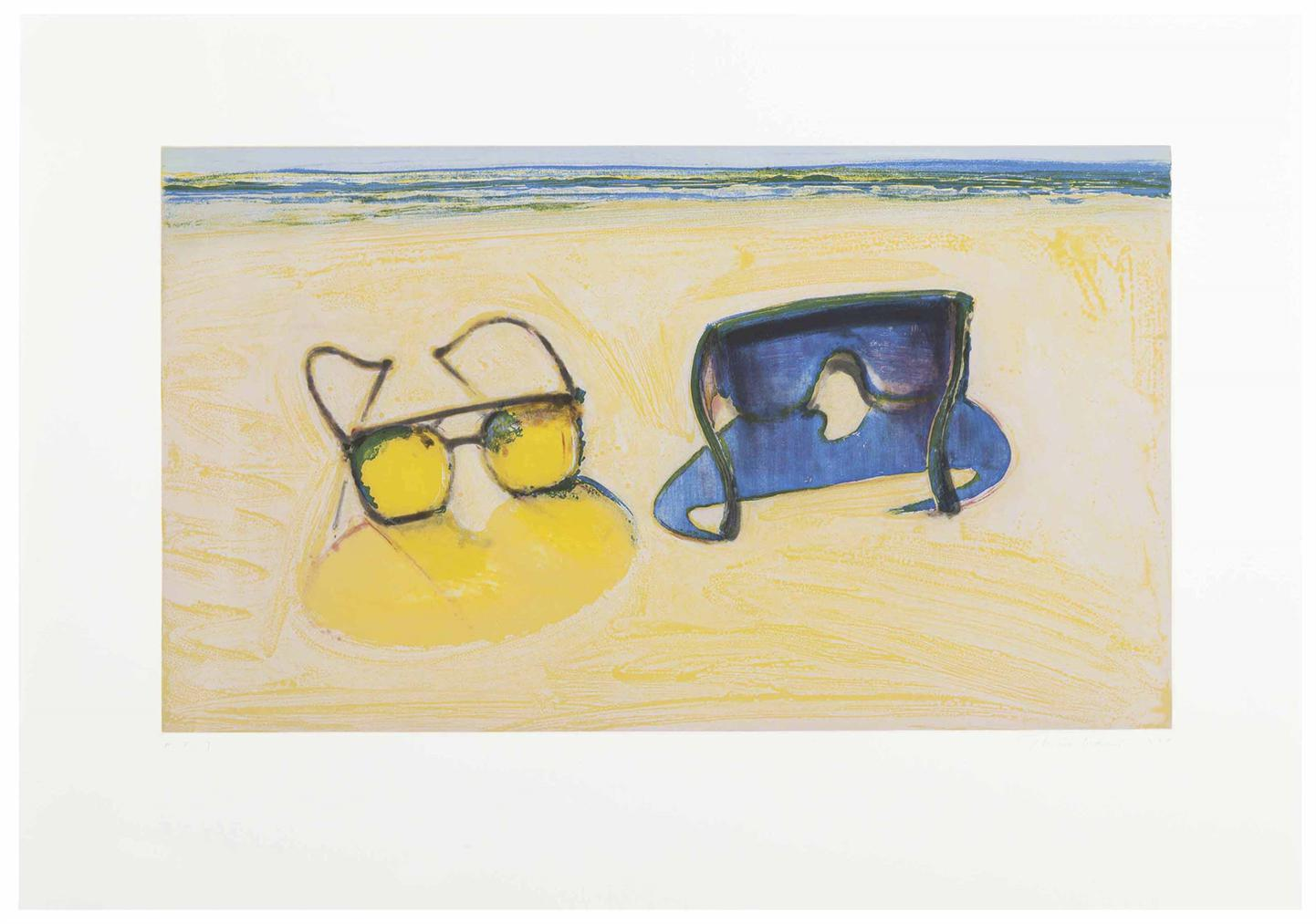 Wayne Thiebaud-Beach Glasses-1994