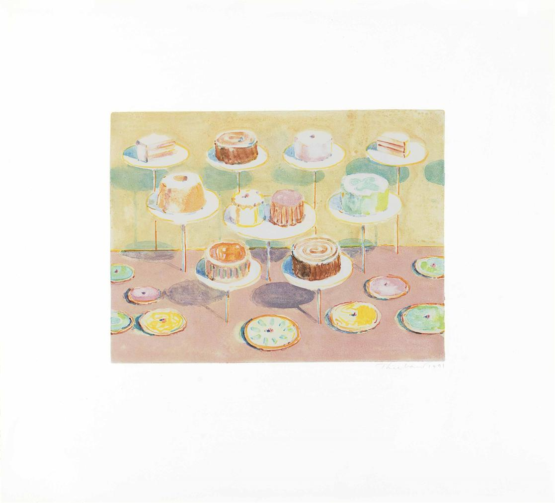 Wayne Thiebaud-Untitled (Cake Window)-1991