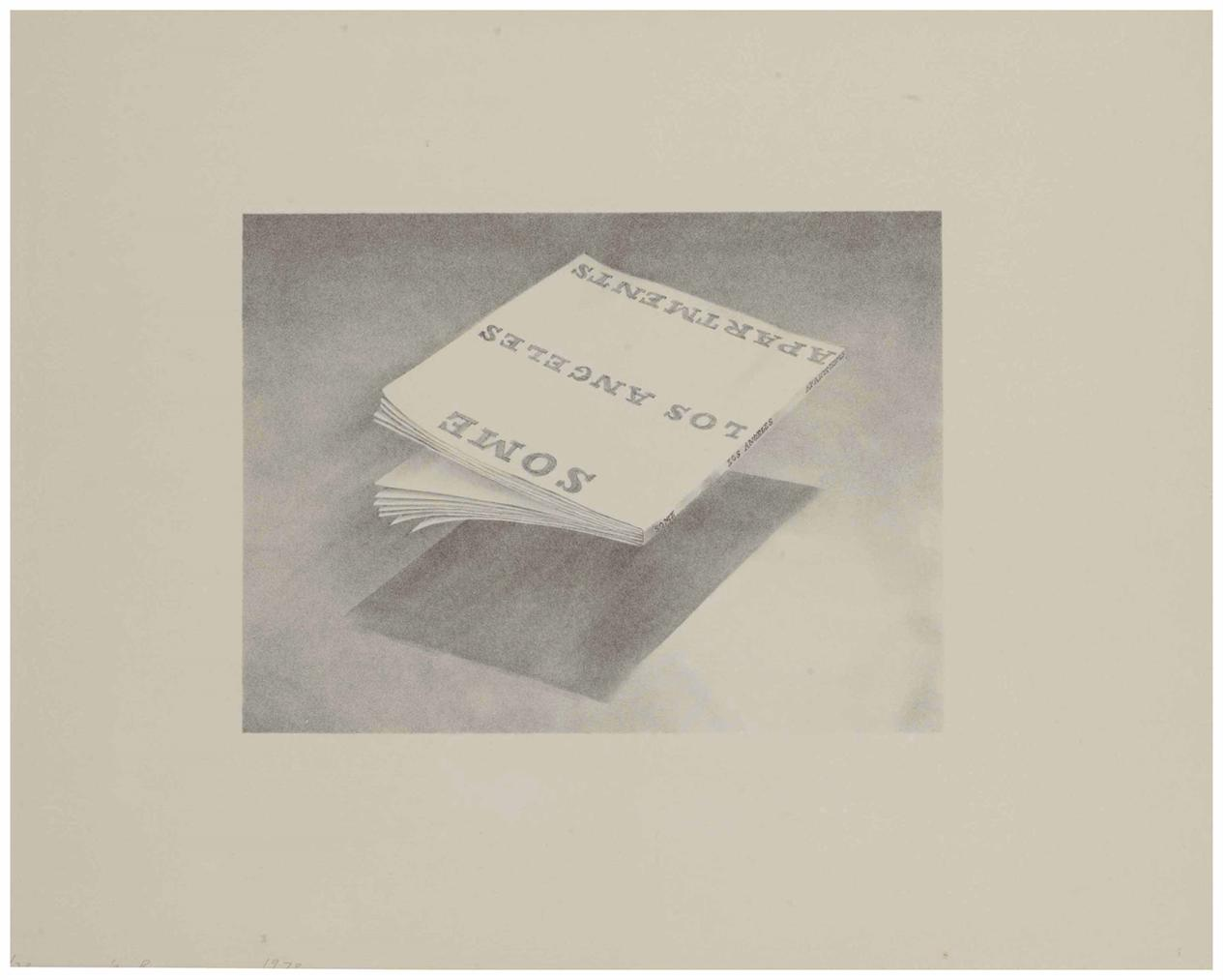 Ed Ruscha-Some Los Angeles Apartments, From Book Covers-1970