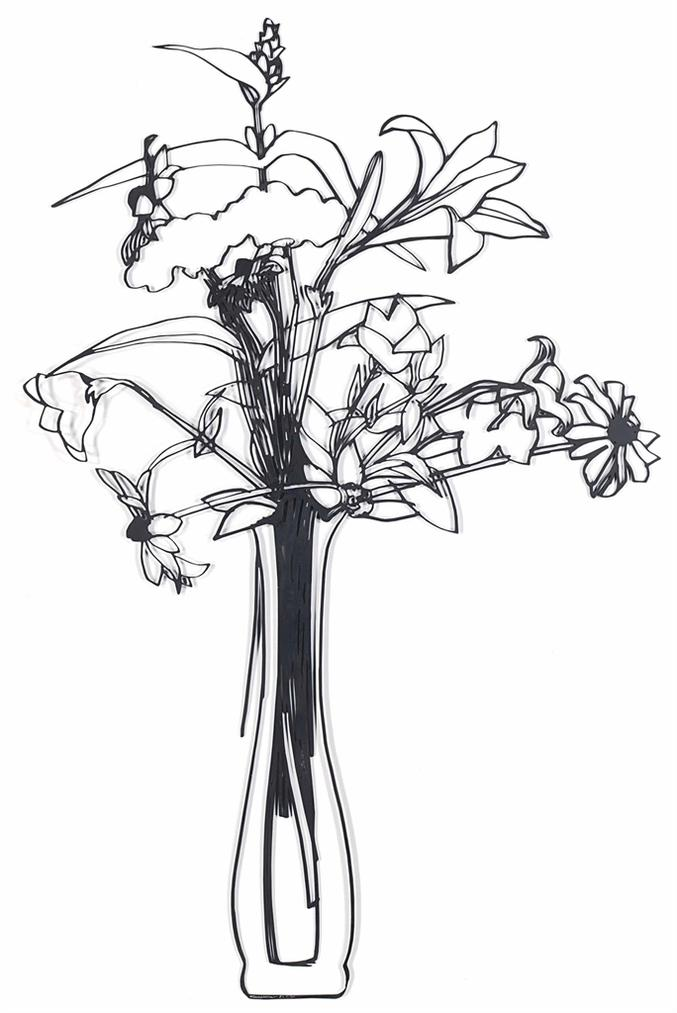 Tom Wesselmann-Steel Drawing/Wildflower Bouquet Edition-1987