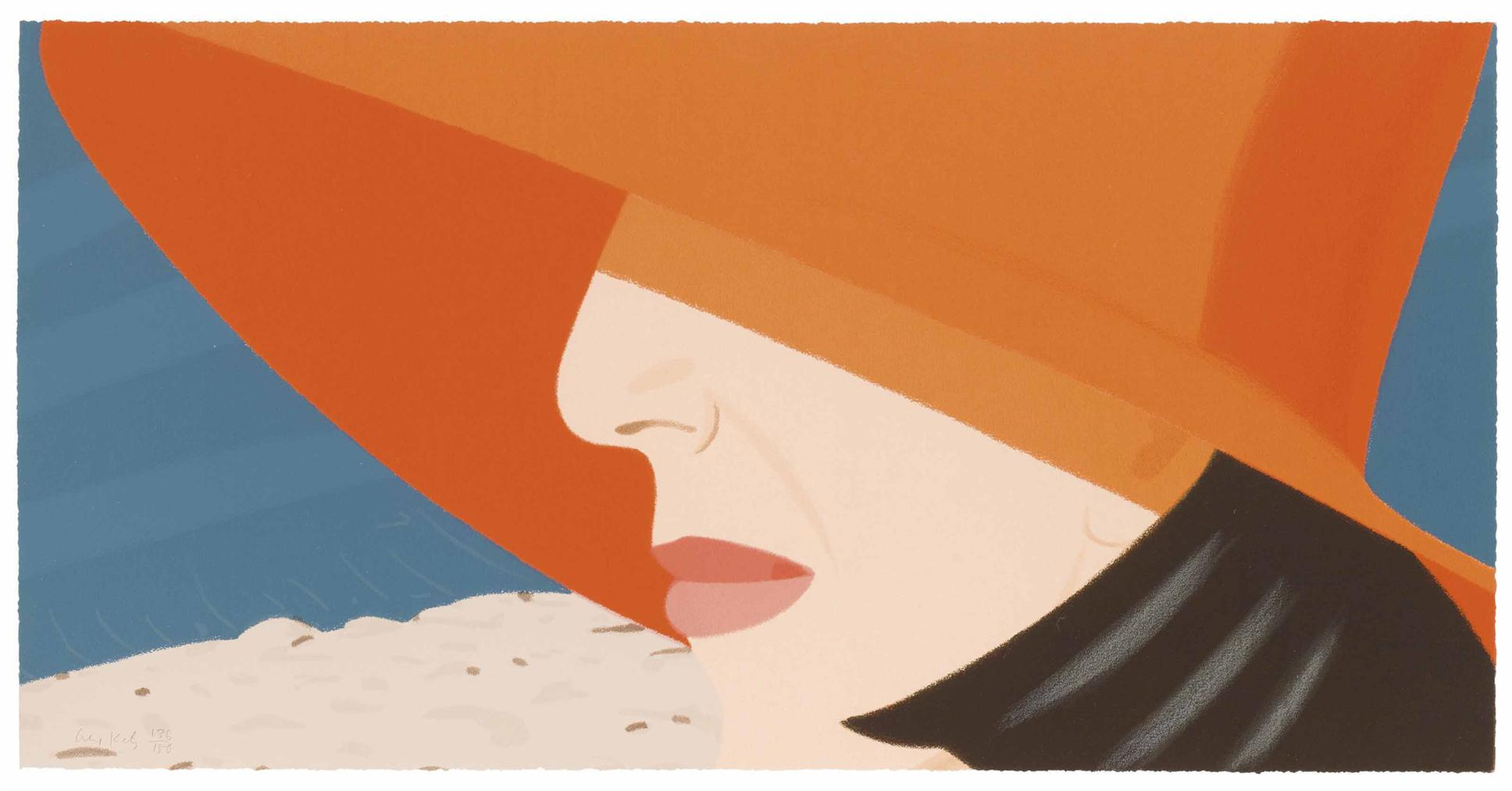 Alex Katz-Orange Hat, From Alex And Ada, The 1960s To The 1980s-1990
