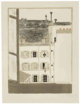 Pierre Bonnard-Maison Dans La Cour, From Quelques Aspects De La Vie De Paris-1898