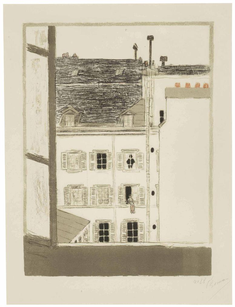 Pierre Bonnard-Maison Dans La Cour, From Quelques Aspects De La Vie De Paris-1898