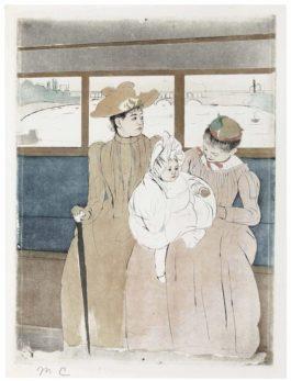 Mary Cassatt-In The Omnibus-1891