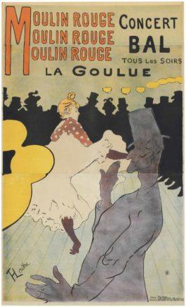 Henri de Toulouse-Lautrec-Moulin Rouge - La Goulue-1891