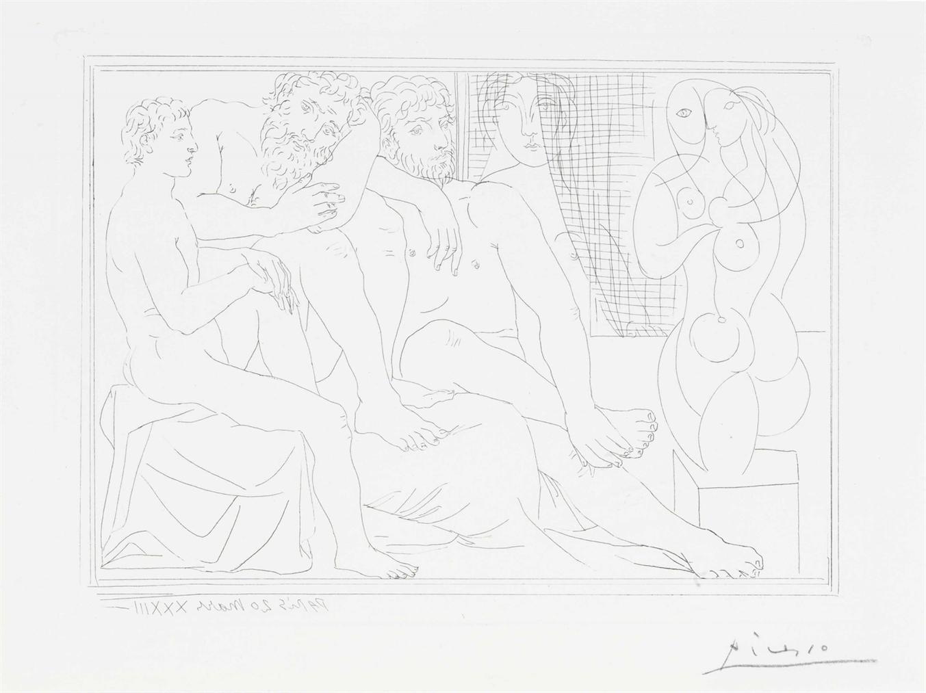 Pablo Picasso-Sculpteurs, Modeles Et Sculpture, From La Suite Vollard-1933