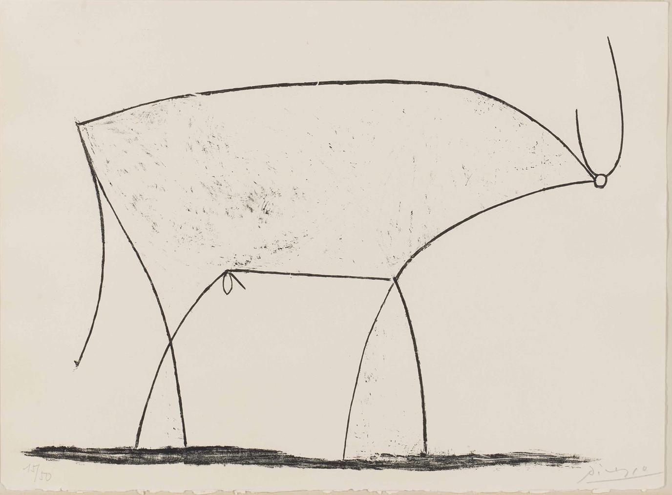 Pablo Picasso-Le Taureau-1946