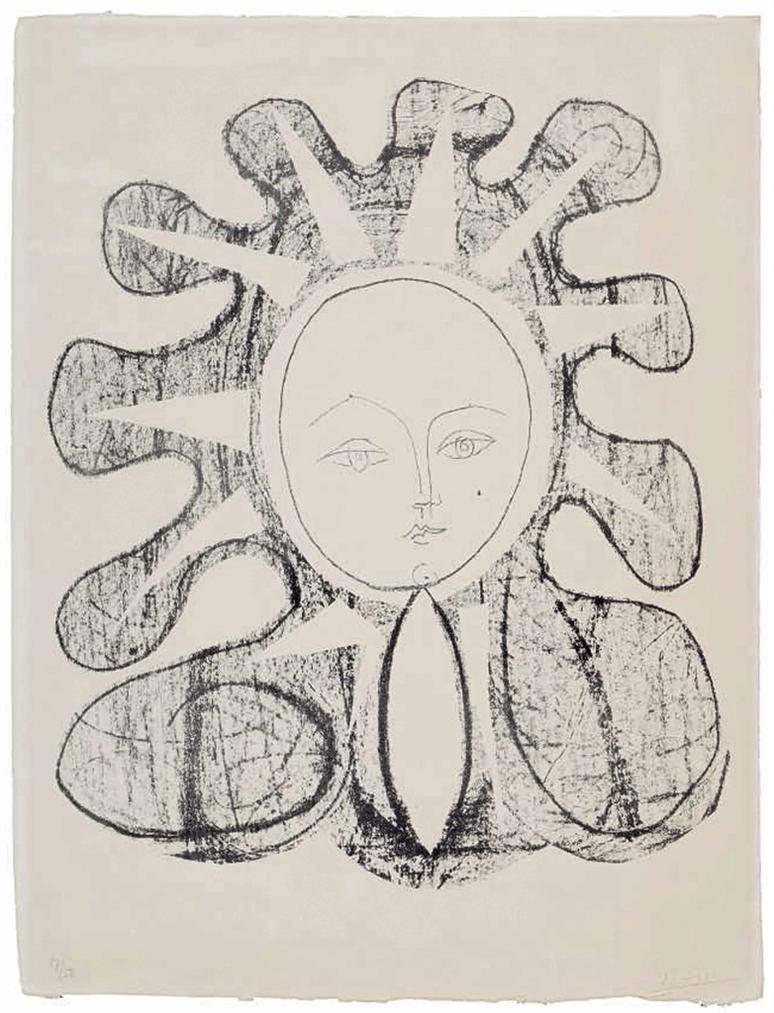 Pablo Picasso-Francoise En Soleil-1945