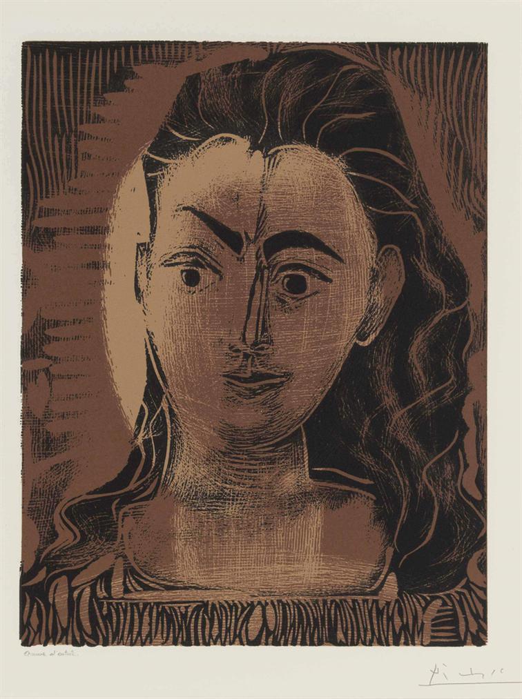 Pablo Picasso-Petit Buste De Femme-1962