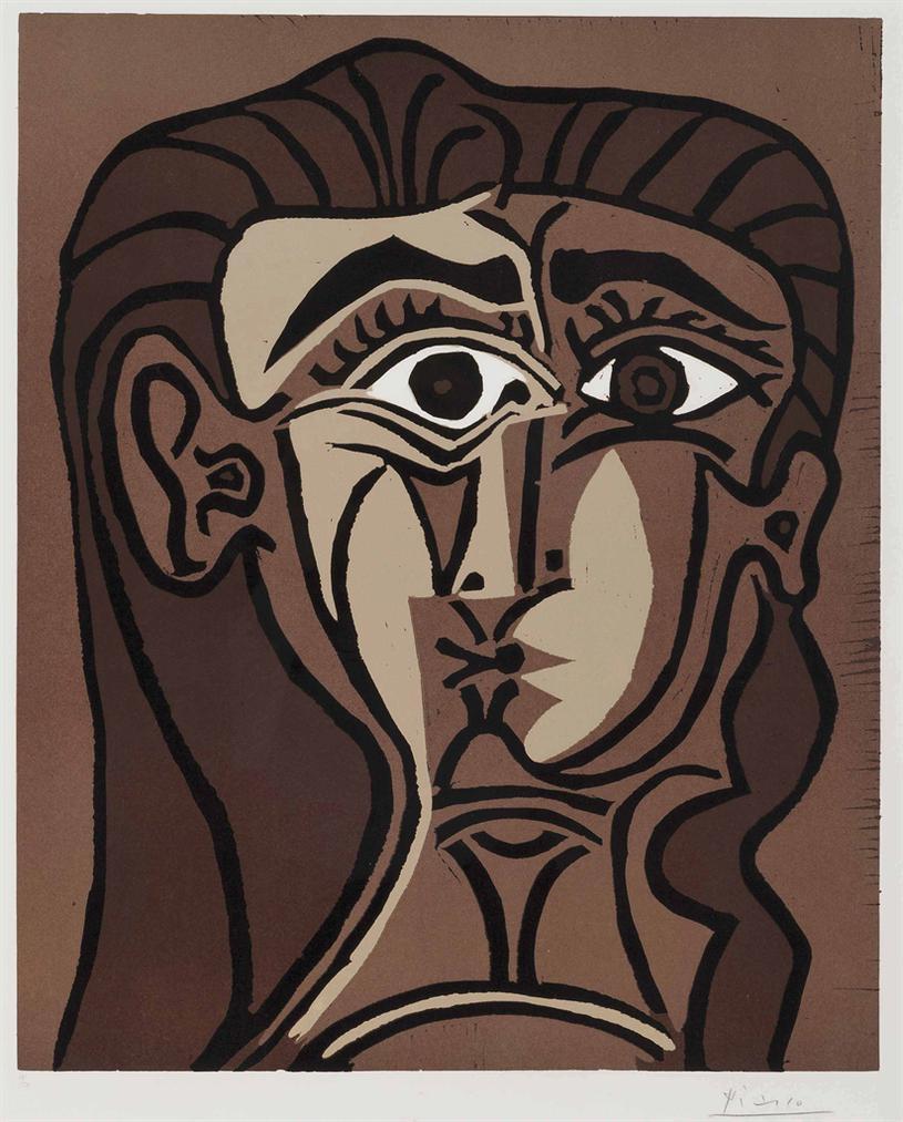 Pablo Picasso-Portrait De Jacqueline De Face Ii-1962