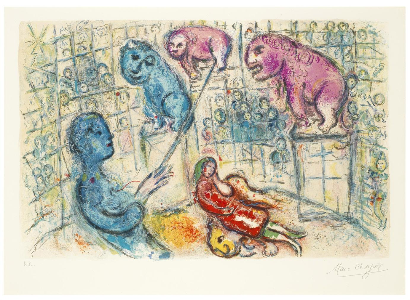 Marc Chagall-Le Cirque: One Plate-1967