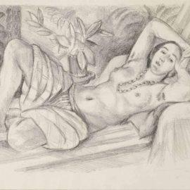 Henri Matisse-Odalisque Au Magnolia-1923