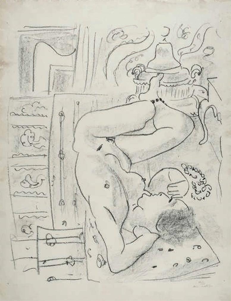 Henri Matisse-Nu Renverse Au Brasero-1929