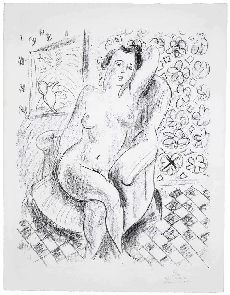 Henri Matisse-Nu Au Fauteuil Sur Fond Moucharabieh-1925