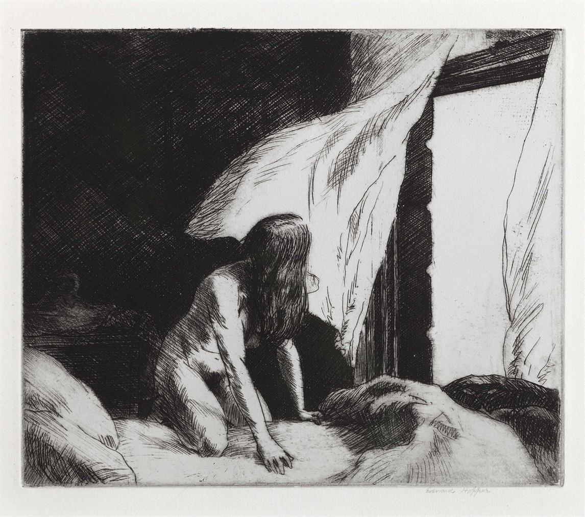 Edward Hopper-Evening Wind-1921