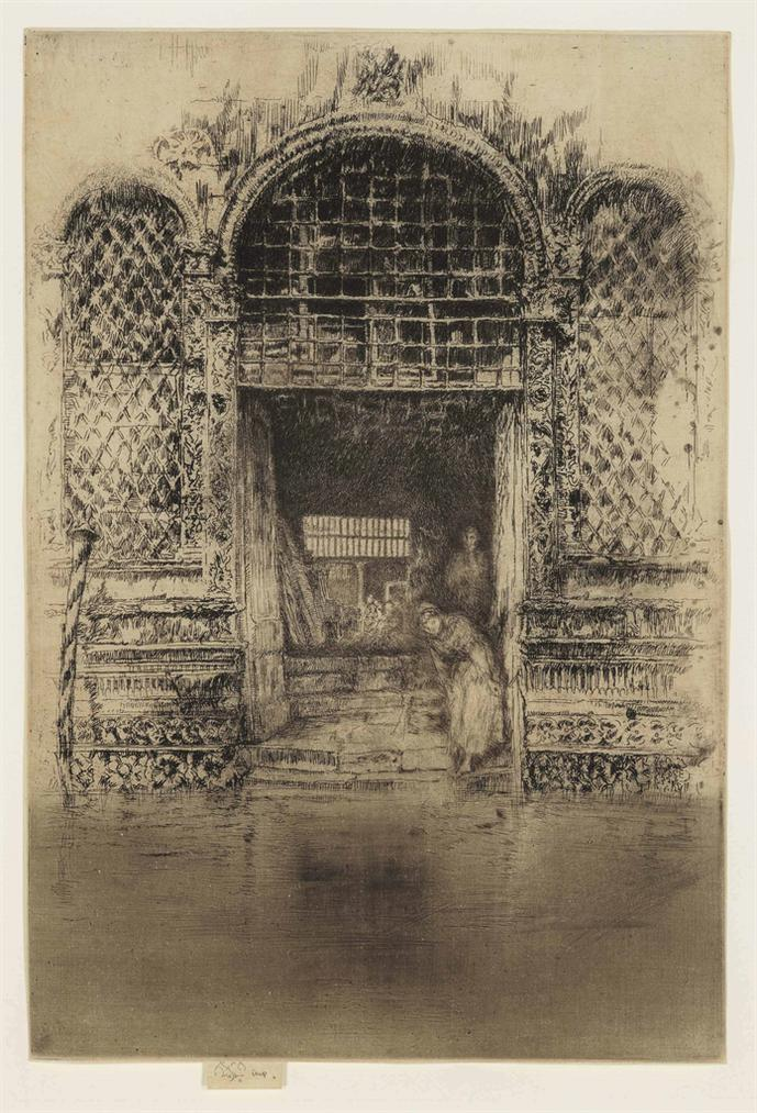 James Abbott McNeill Whistler-The Doorway, From Venice, A Series Of Twelve Etchings-1880
