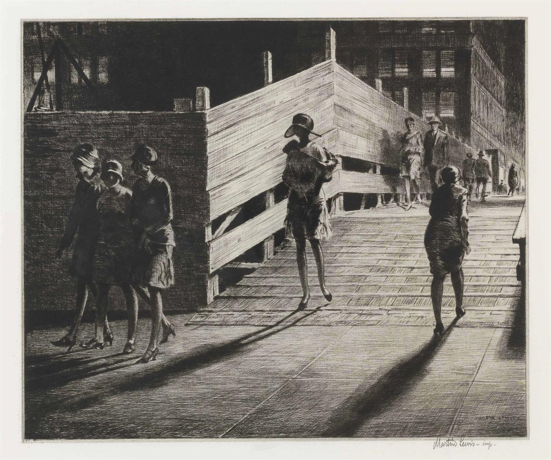 Martin Lewis-Fifth Avenue Bridge-1928