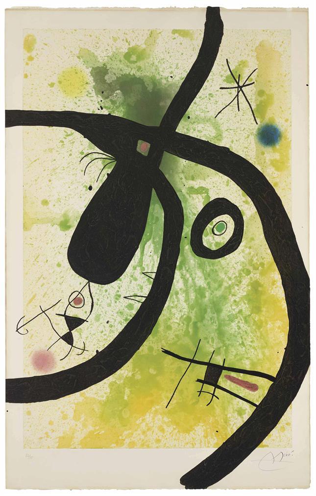 Joan Miro-Le Chasseur De Pieuvres-1969