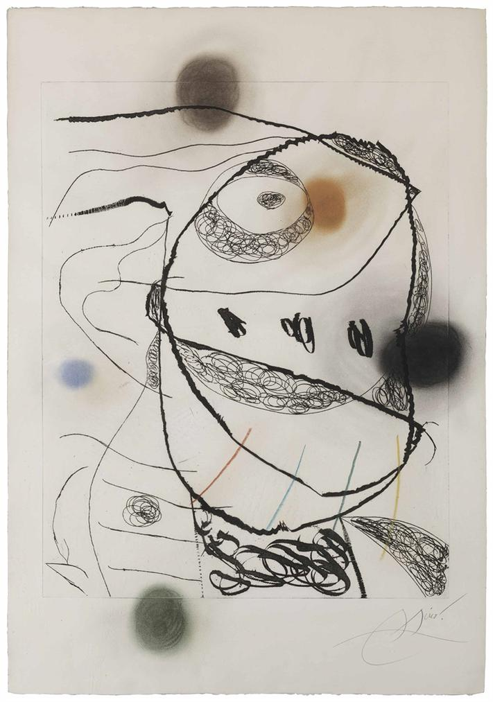 Joan Miro-Les Orfevres: One Plate-1973