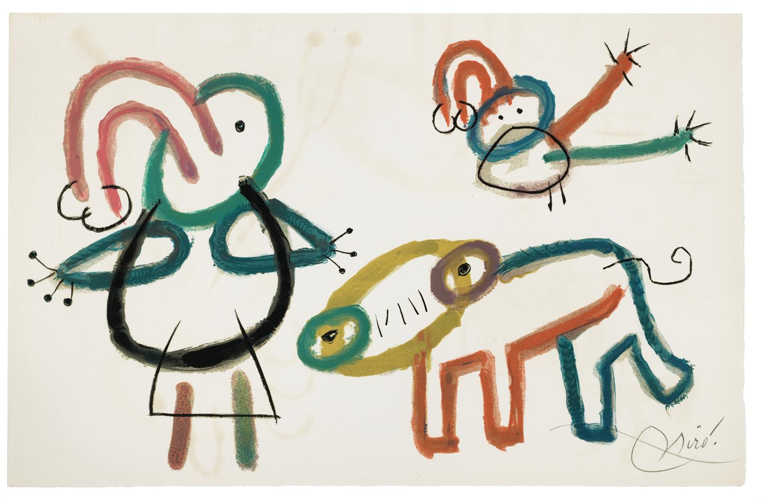Joan Miro-Lenfance Dubu, Teriade, Paris-1975
