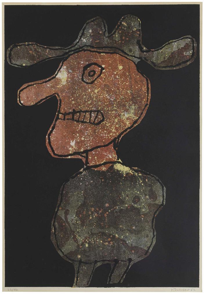 Jean Dubuffet-Personnage Au Chapeau-1962