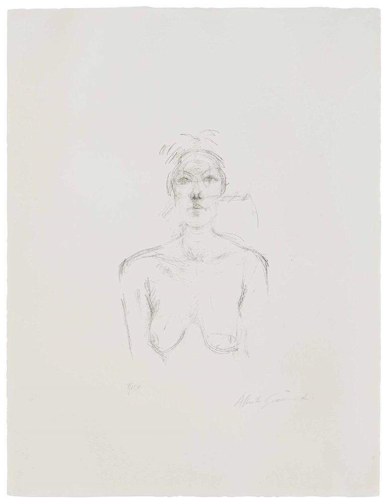 Alberto Giacometti-Buste II-1960