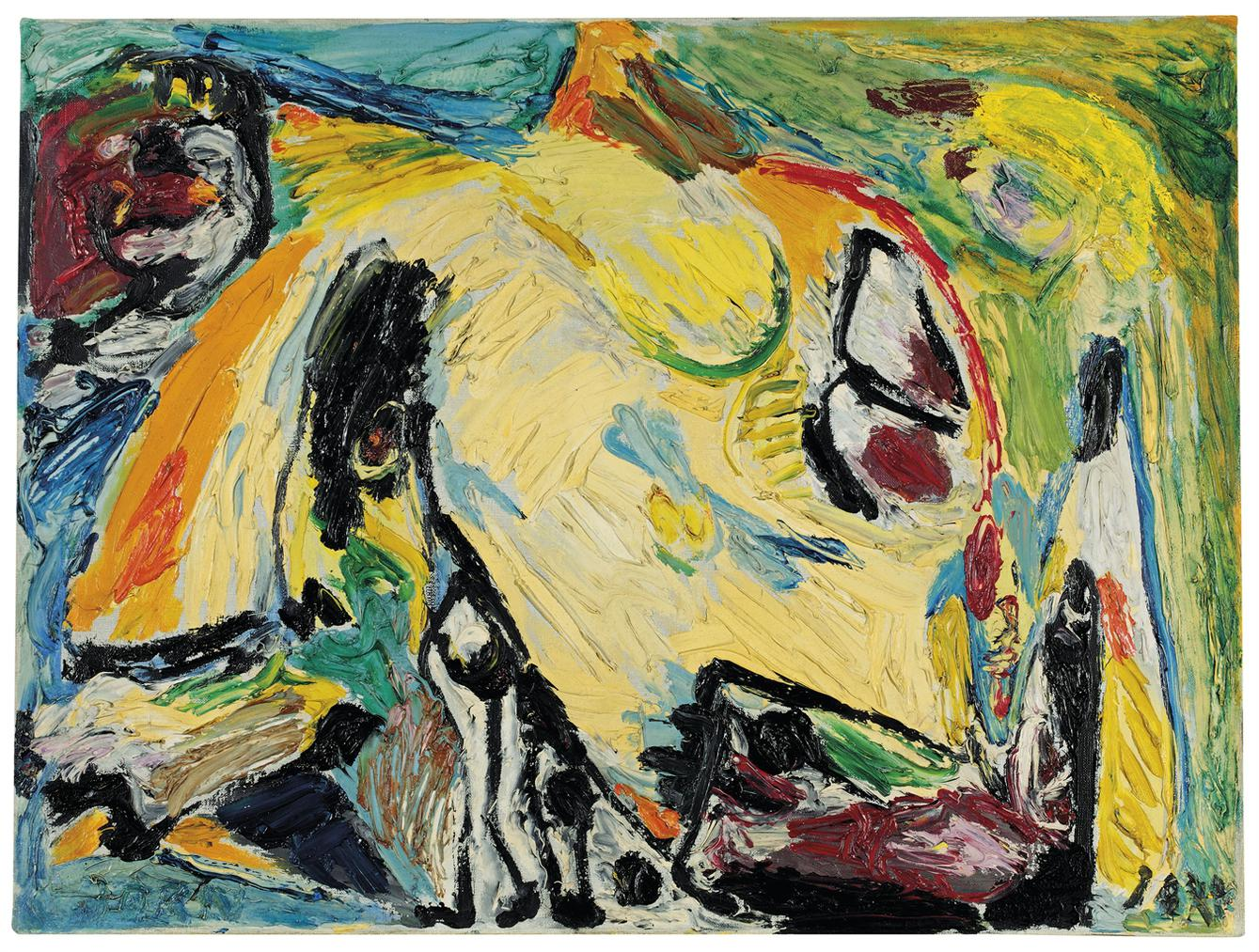 Asger Jorn-Hungriger Vogel (Hungry Bird)-1957