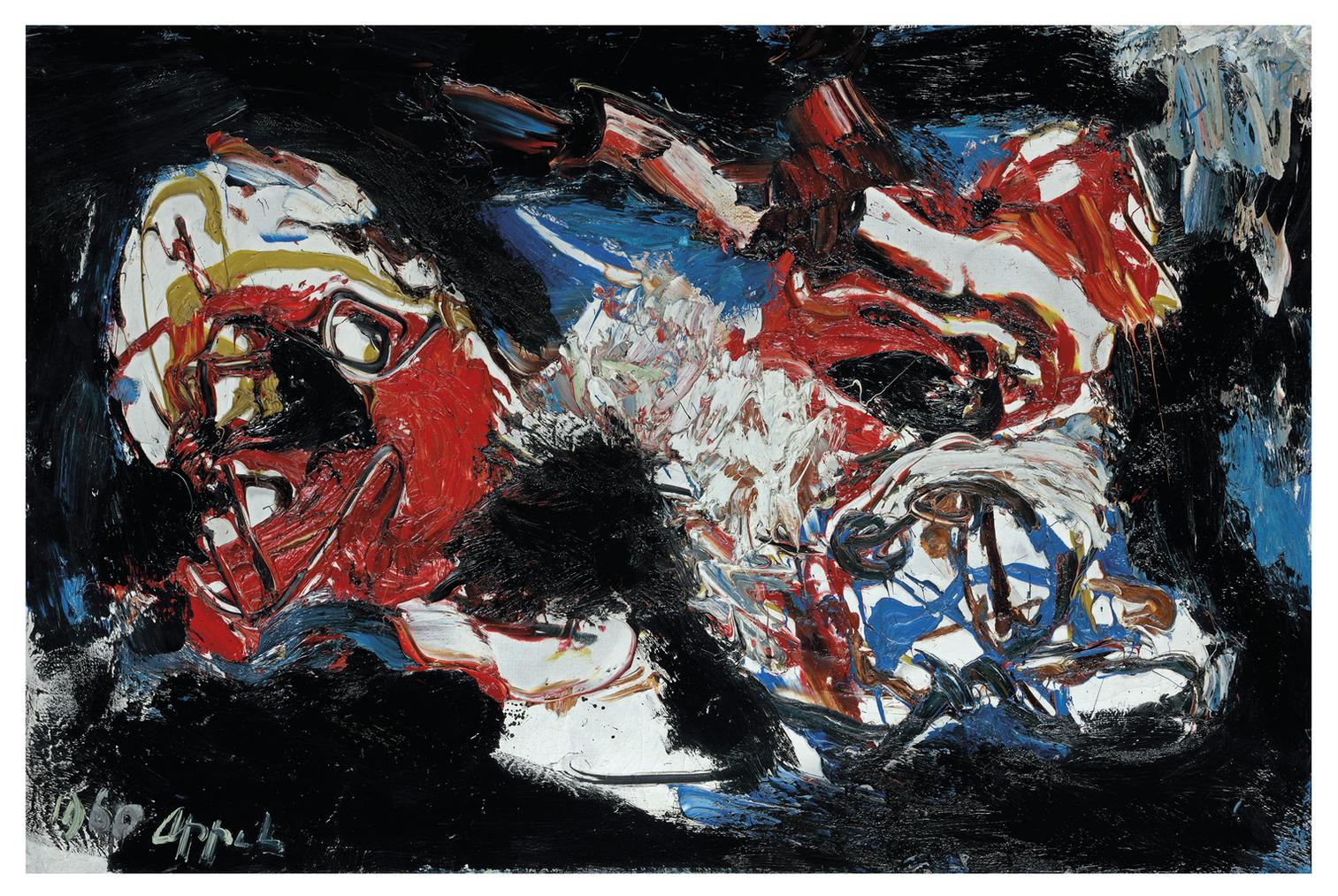 Karel Appel-Tetes Dans Tempete (Heads In The Tempest)-1960