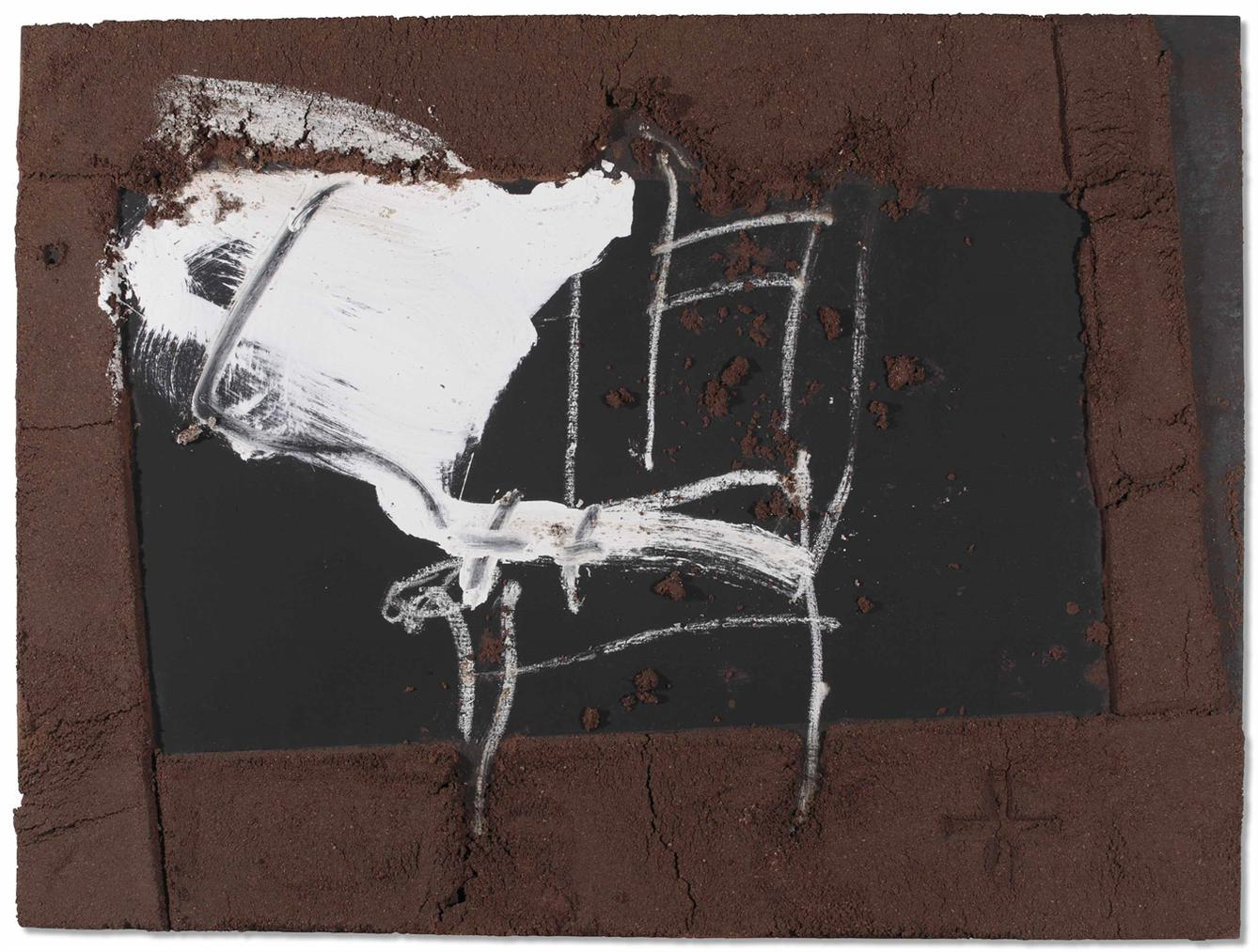Antoni Tapies-Cadira I Blanc (Chair And White)-1999