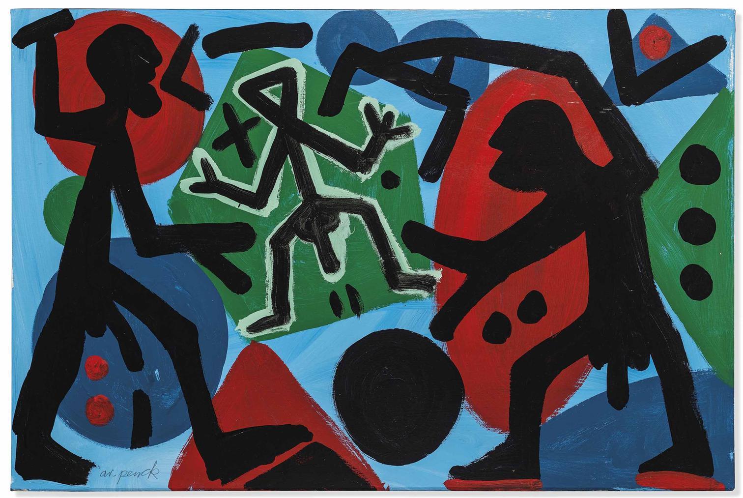 A.R. Penck-Bedrangt (Embattled)-1997