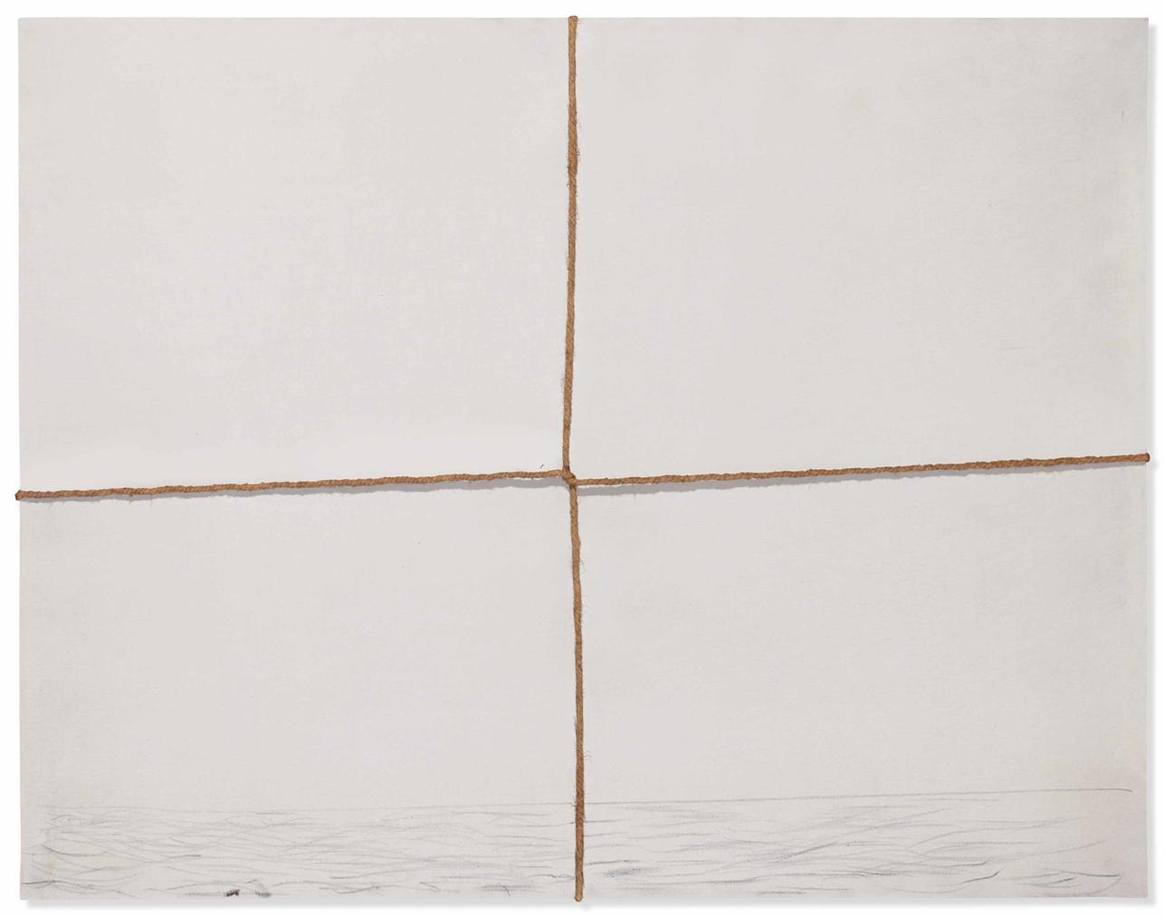 Antoni Tapies-Tela Atada (Tied Canvas)-1969