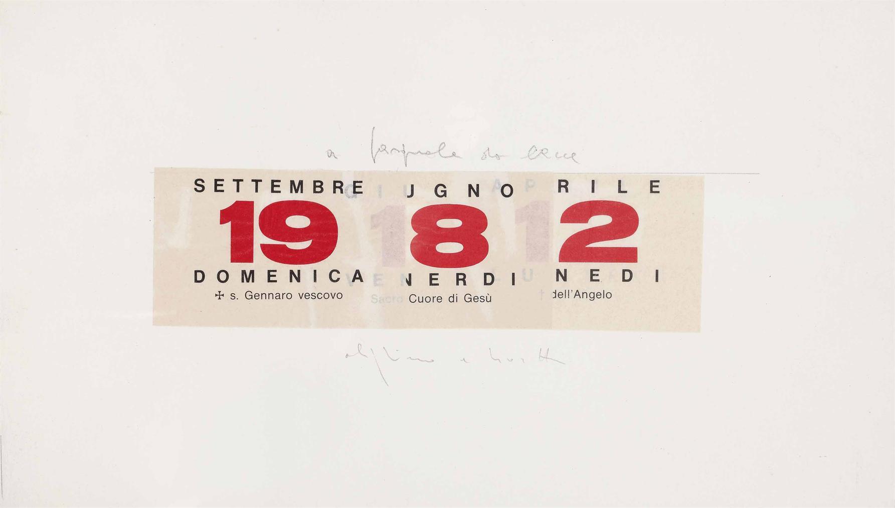 Alighiero Boetti-Calendario (Calendar)-1982